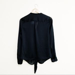 The Limited Tops - New The Limited Sheer Black Long Sleeve Shirt
